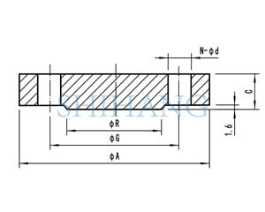 drawing of copper nickel flanges BLIND FLANGE
