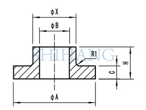 drawing of copper nickel flanges COMPOSITE SLIP ON FLANGE