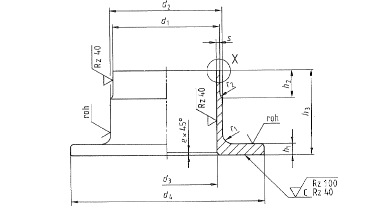 din 86037 coppe nickel collar drawing