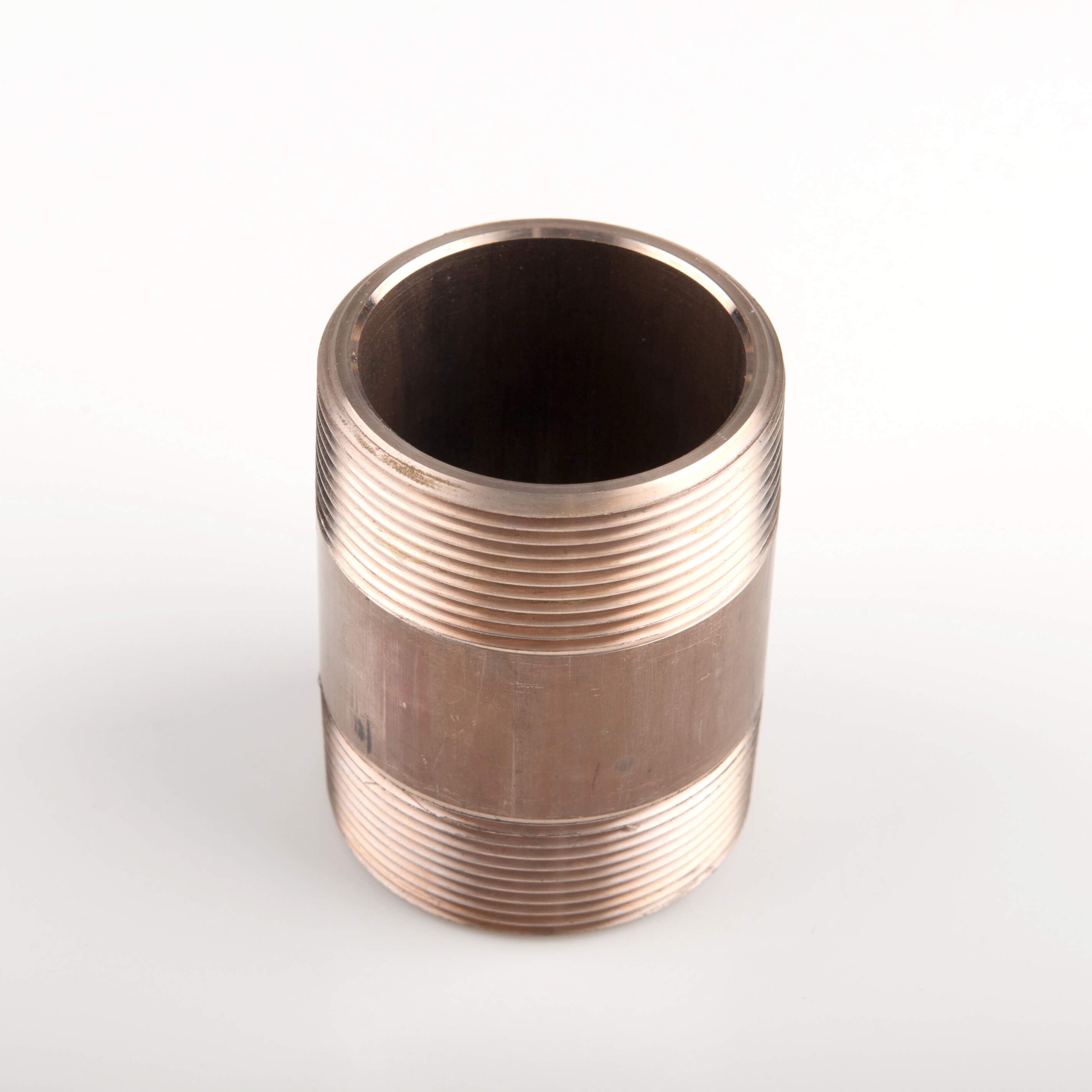 Copper nickel pipes with threaded ends