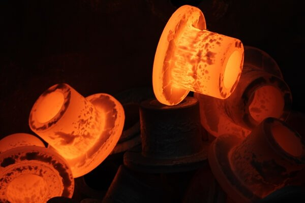 copper nickel flange hot forging